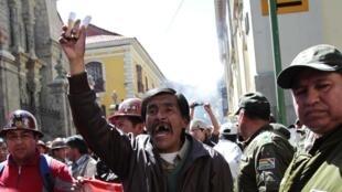 Manifestation de mineurs à La Paz, le 9 mai 2013.