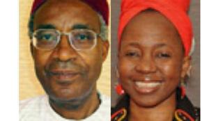 Adamou Ndam Njoya (G) et Edith Kahbang Wallah (D), deux candidats à la présidentielle camerounaise.
