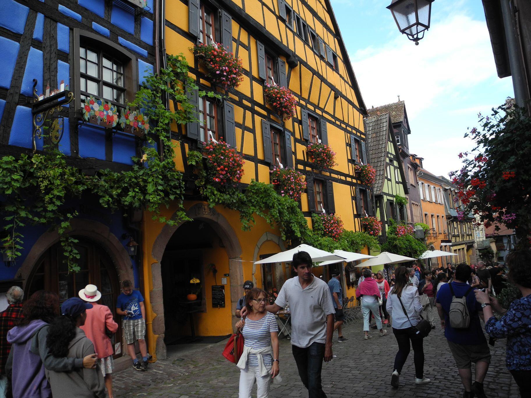 Làng Riquewihr, vùng Alsace, Pháp.