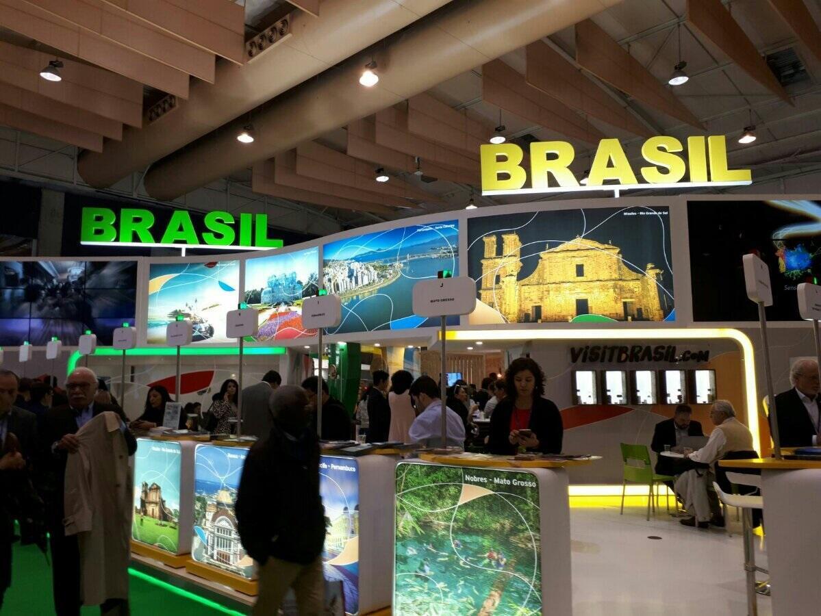 Stand brasileiro na Bolsa de Turismo de Lisboa.