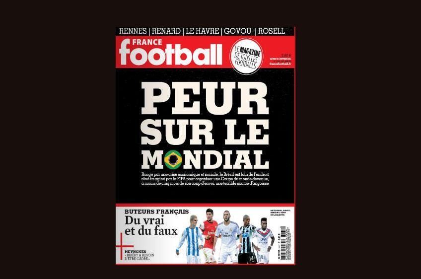 Capa da revista francesa France Football desta semana, 28 de janeiro de 2014