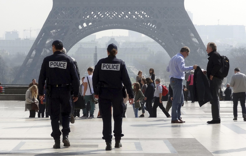 Police on patrol in Paris