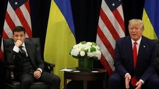 Presidents of Ukraine and the United States, Volodymyr Zelenskiy and Donald Trump, give a joint press conference in New York on 25 September