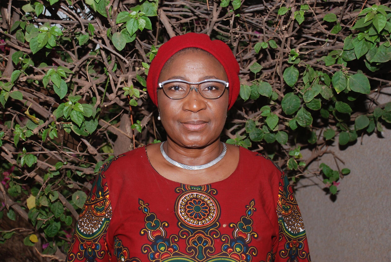Portrait de la romancière Monique Ilboudo.