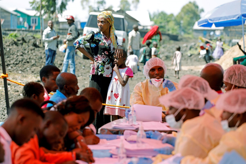 Kituo cha kutoa chanjo ya Ebola mjini Goma