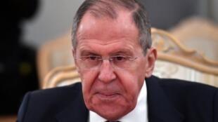 El canciller ruso Serguéi Lavrov en Moscú, el 4 de febrero de 2020
