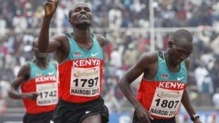 Triplé kenyan sur 5 000 mètres messieurs aux Championnats d'Afrique d'athlétisme 2010.
