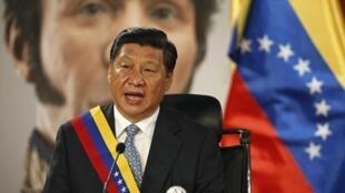 Xi Jinping, el presidente chino, en el palacio presidencial de Miraflores, Caracas, el 20 de julio de 2014.