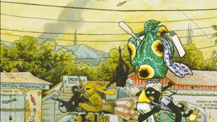 La couverture de la bande dessinée de Didier Kassaï intitulé « Tempête sur Bangui ».