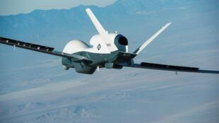 Um drone da empresa americana Northrop Grumman. Imagem de ilustração.