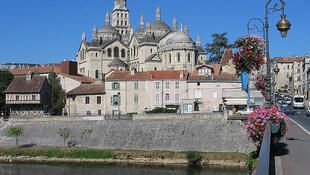 A view of central Périgueux, scene of Thursday's suspected femicide and suicide.