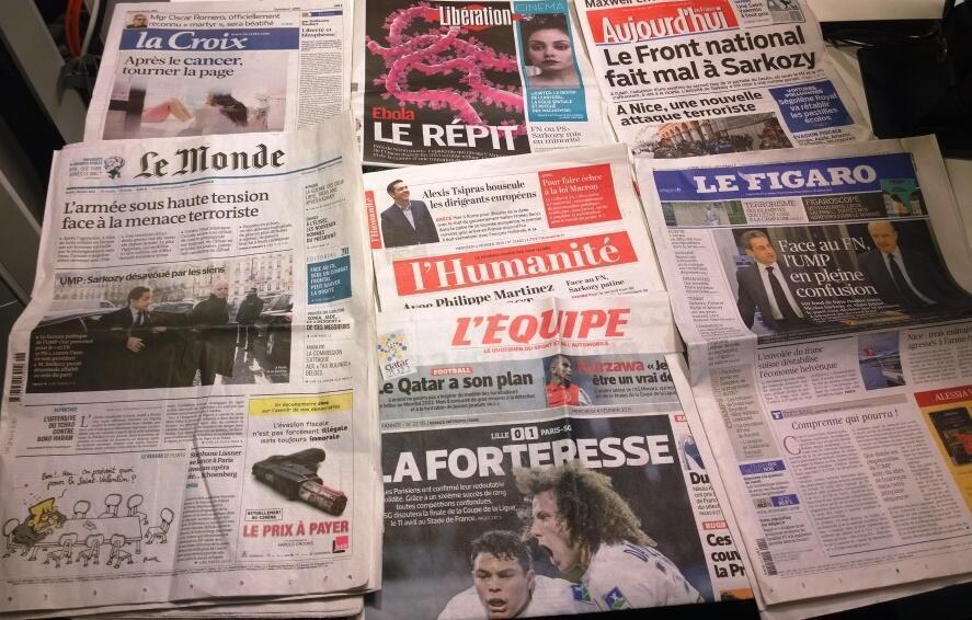 Diários franceses 04/02/2015