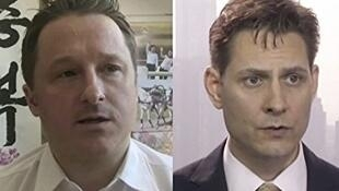 被中方指涉案的加拿大人邁克爾和康明凱資料圖片
