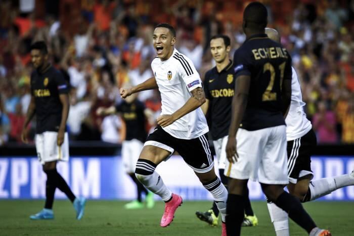 Monaco s'est incliné sur la pelouse du FC Valence en barrage aller de la Ligue des Champions (3-1), le 19 août 2015.
