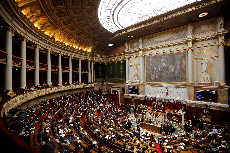Plenário da Assembleia Nacional, em Paris, onde 577 deputados eleitos exercem mandato de cinco anos.