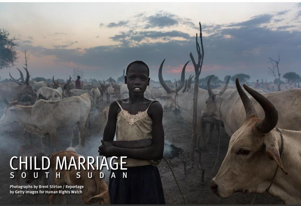 Le rapport de Human Rights Watch (HRW) sur le mariage précoce des jeunes filles au Soudan du Sud.