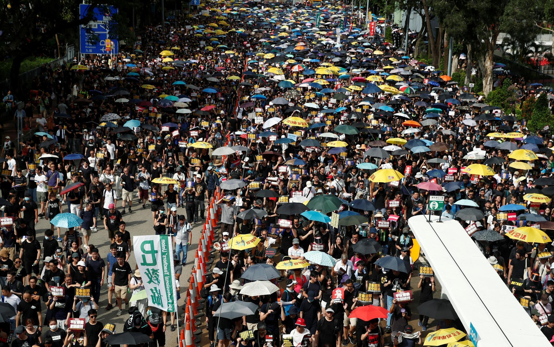 Người dân Hồng Kông biểu tình chống dự luật dẫn độ và đòi cải cách dân chủ, ngày 21/07/2019.
