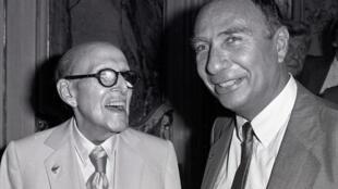 Marcel et Serge Dassault à Paris.