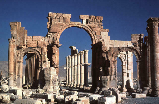 Moja ya eneo la urithi wa dunia lililoko mjini Palmyre, Syrie