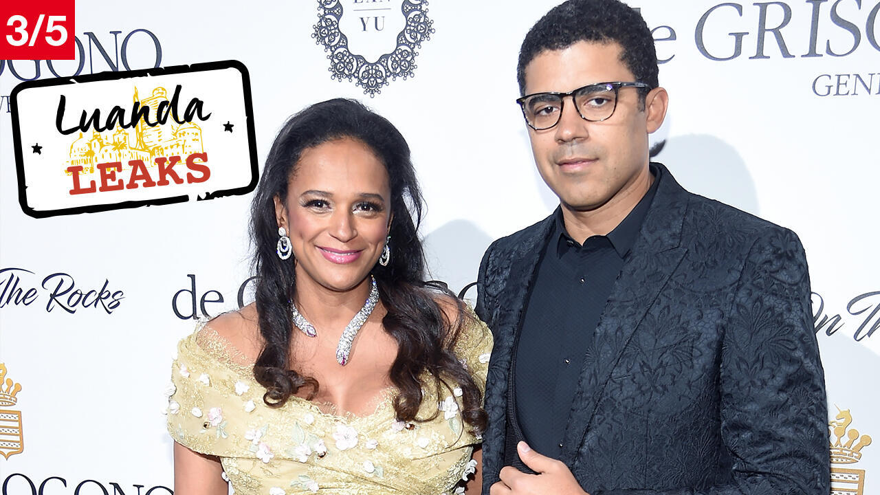 Isabel dos Santos e seu marido Sindika Dokolo, durante uma cerimónia no Festival de Cannes em maio de 2017.