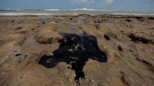 As manchas nas praias do Nordeste brasileiro são de difícil remoção, explica a pesquisadora.