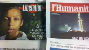 Primeiras páginas diários franceses 14/2/2013