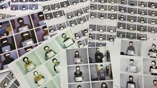 Fotos dos refugiados norte-coreanos ajudados pelas associações de Direitos Humanos.