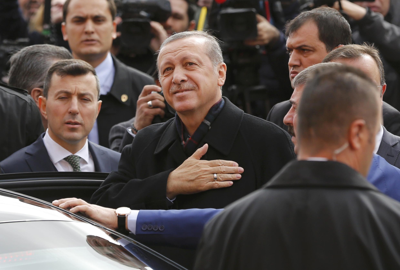 Recep Tayyip Erdoğan, président de l'AKP, le Parti de la Justice et du Développement ayant remporté les législatives turques du dimanche 1er novembre 2015.