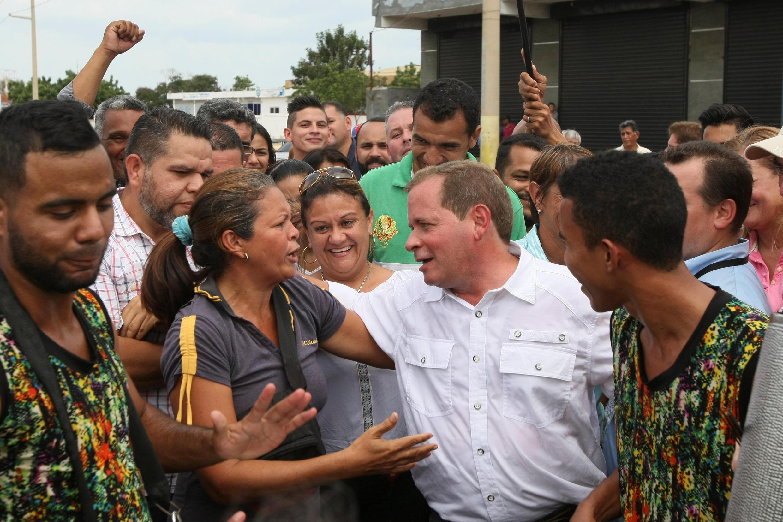 Juan Pablo Guanipa, candidat de la MUD -coalition d'opposition - a remporté l'élection au poste de gouverneur de l'Etat de Zulia, le 15 octobre 2017.