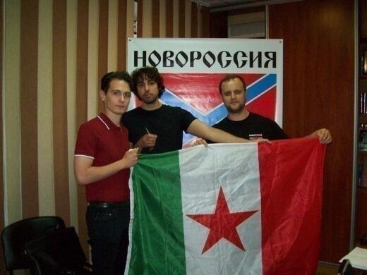 Лука Пинтауди и Орацио Мария Гнерре в компании с «народным губернатором» Донбасса Павлом Губаревым (справа)