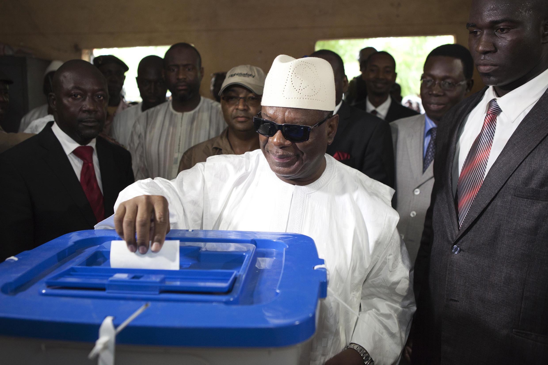 Ibrahim Boubacar Keita, candidat du Rassemblement pour le Mali (RPM).
