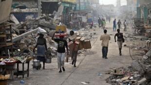 Port-au-Prince, en mars 2010.