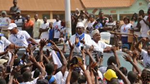 L'ancien Premier ministre et président de l'UFR Sidya Touré en campagne électorale à Boké, ce mercredi 31 janvier 2018.