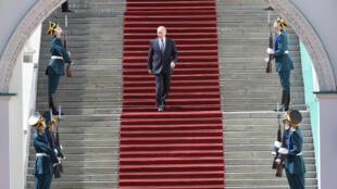 Tổng thống Nga Vladimir Putin sau lễ nhậm chức, điện Kremlin, Matxcơva, 07/05/2018.