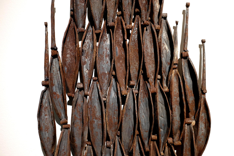 « Soupirs » (détail) (2006), œuvre de l'artiste française Daphné Bitchatch, exposée dans « Paris-Cotonou-Paris », à la Galerie Vallois.