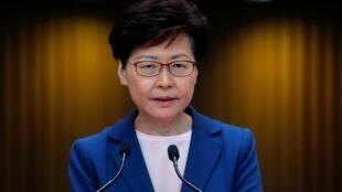 Lãnh đạo đặc khu Hồng Kông Lâm Trịnh Nguyệt Nga (Carrie Lam) phát biểu về dự luật dẫn độ, Hồng Kông, 9/7/2019.