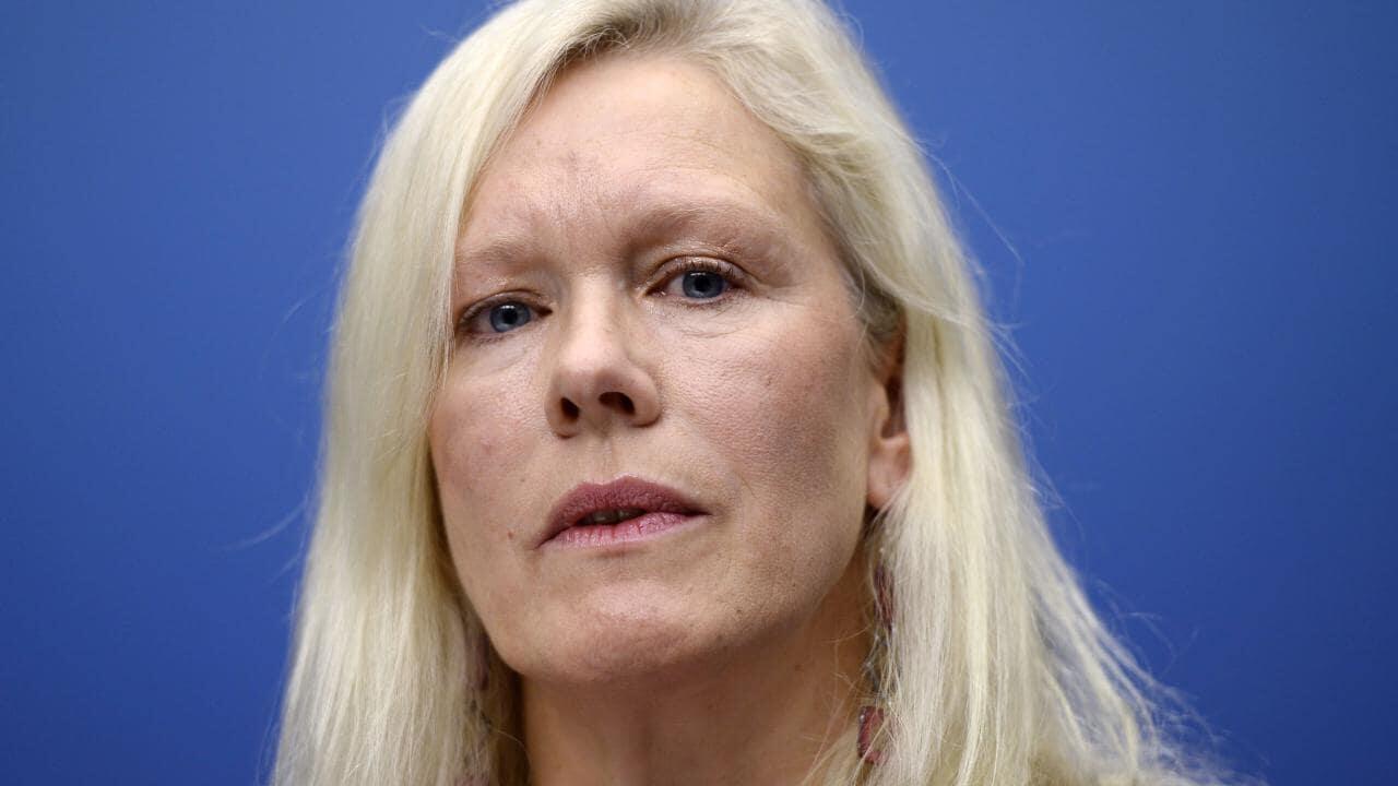 图为网传瑞典前驻华大使林戴安照片