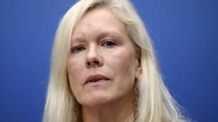 圖為網傳瑞典前駐華大使林戴安照片