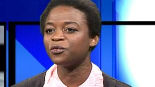 Julie Owono, avocate, responsable du bureau Afrique de l'ONG-Internet sans frontières (Capture d'écran).