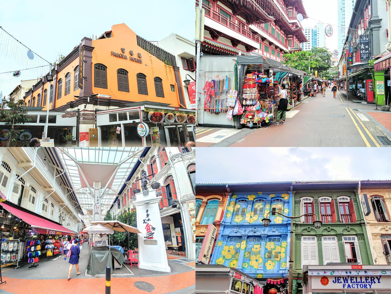 """Các """"food court"""" tại những khu phố bình dân gần Mustafa Center, phố Pagoda Street gần Chinatownn, đường Jalan Besar ở Little India"""
