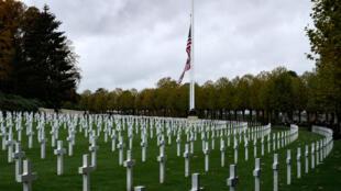 Le cimetière américain à Belleau où sont enterrés les soldats américains morts durant la Première Guerre mondiale.