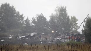 Les débris du Yak-42, l'avion charter vieux de 18 ans, qui s'est écrasé le 7 septembre 2011, près de  la ville de Iaroslavl (300 km au nord-est de Moscou), faisant 44 morts dont 36  joueurs et entraîneurs du Lokomotiv, l'équipe de hockey locale.