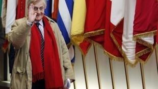 Jean-Claude Trichet quitte son poste de président de la Banque de l'Europe.