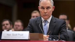Scott Pruitt, chef de l'Agence américaine de protection de l'environnement, a démissionné le 5 juillet 2018.