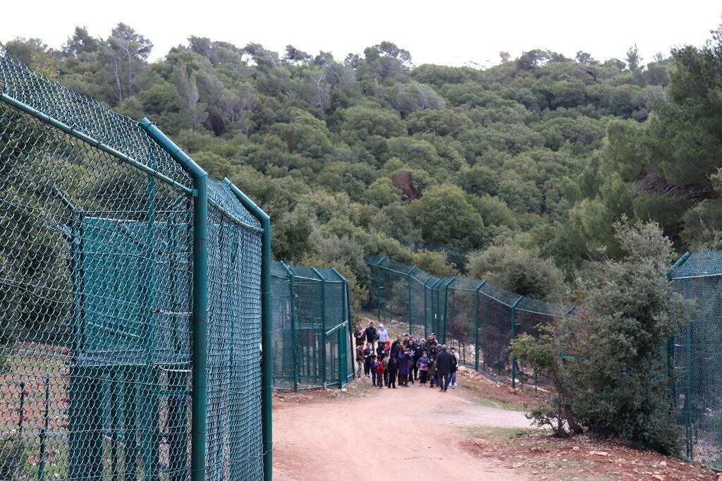 Enfants venant visiter le parc animalier Al Mawa