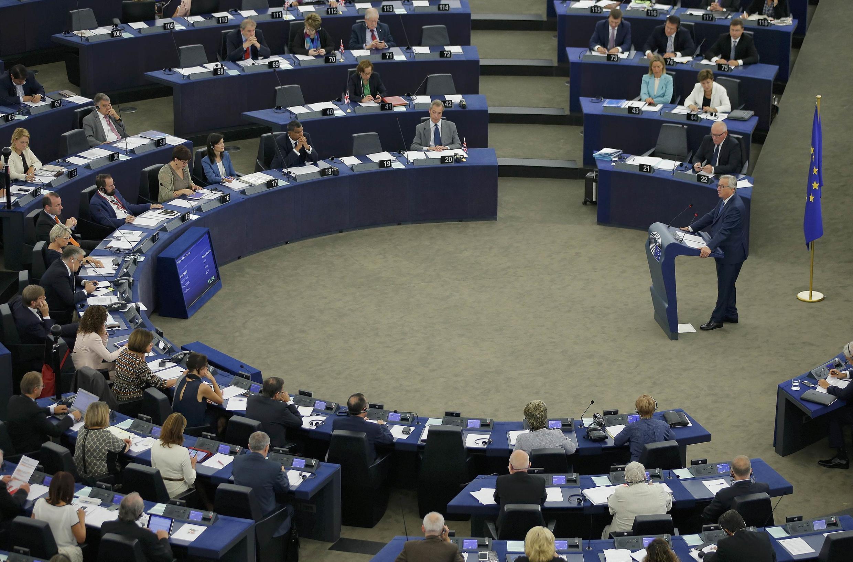 Jean-Claude Juncker devant les députés européens, le 14 septembre 2016.