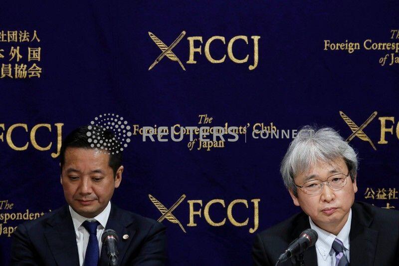 戈恩律師在東京舉行的新聞發布會上 2019年1月8日