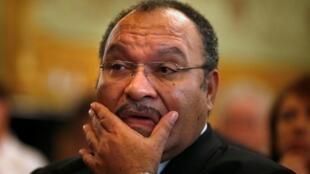 Le Premier ministre démissionnaire de Papouasie-Nouvelle-Guinée Peter O'Neill, ici en 2012 à Sydney.