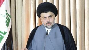 Moqtada Sadr, le chef de la puissante milice chiite, l' Armée du Mahdi, à Najaf, le 25 juin 2014.