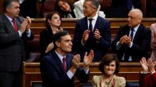 O chefe do governo espanhol, Pedro Sánchez, foi reeleito nesta terça-feira, 7 de janeiro de 2020.